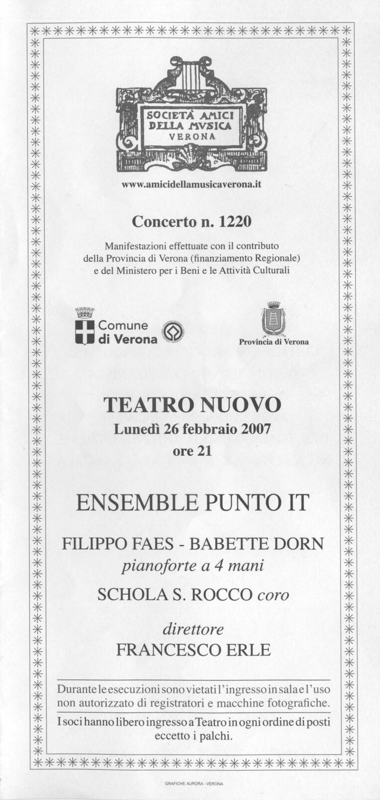 2007 Verona